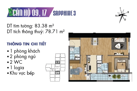 thiet ke noi that chung cu goldmark city toa sapphire 3 can 09 1